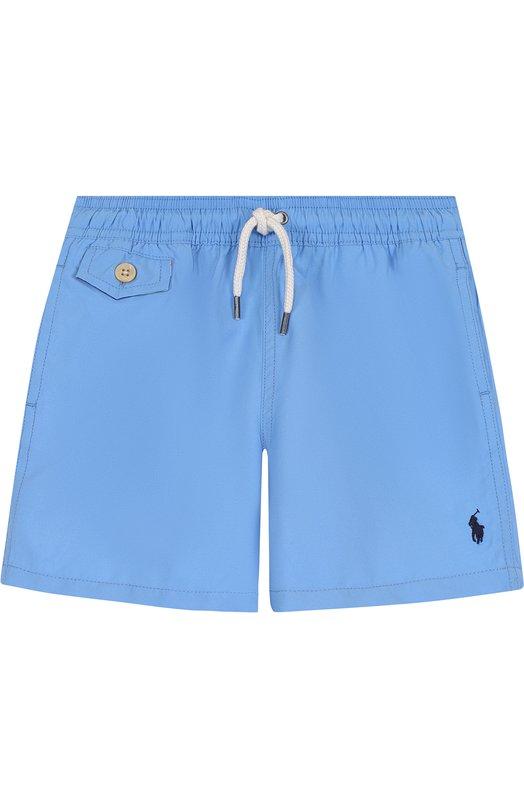 Купить Шорты с логотипом бренда Polo Ralph Lauren, 322682684, Китай, Голубой, Полиэстер: 100%; Подкладка-полиэстер: 100%;