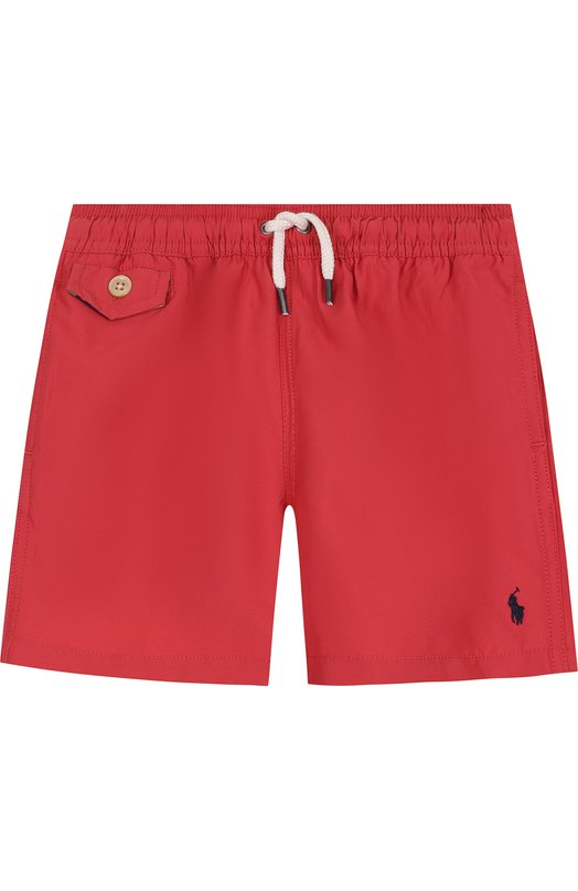 Купить Шорты с логотипом бренда Polo Ralph Lauren, 322682684, Китай, Красный, Полиэстер: 100%; Подкладка-полиэстер: 100%;
