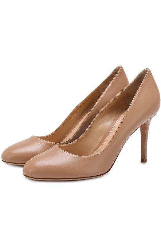 Купить Кожаные туфли Florence 85 на шпильке Gianvito Rossi, G21840.85RIC.RMAPRAL, Италия, Бежевый, Кожа натуральная: 100%; Стелька-кожа: 100%; Подошва-кожа: 100%;