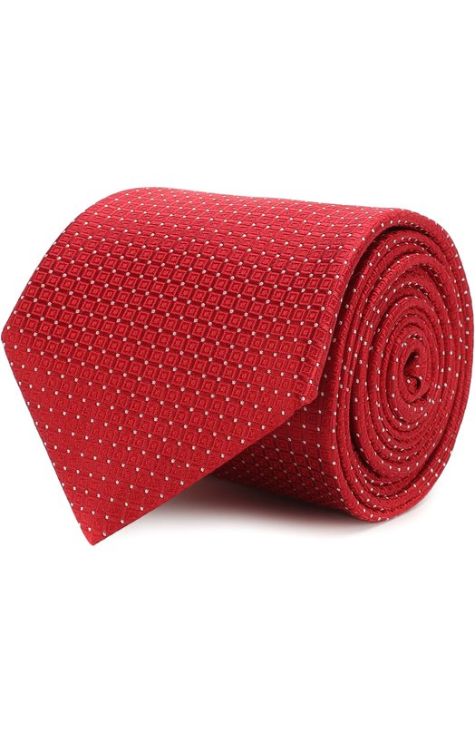 Купить Шелковый галстук с узором Canali, 18/HJ01460, Италия, Красный, Шелк: 100%;