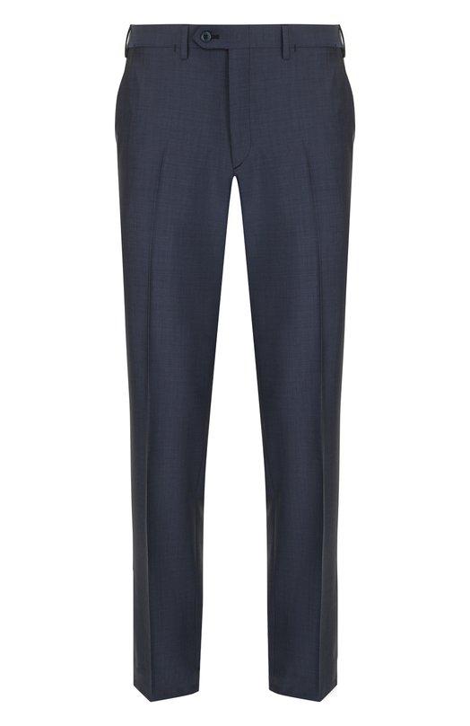 Купить Шерстяные брюки прямого кроя Brioni, RPL210/P3AE0/M0ENA, Италия, Синий, Шерсть: 80%; Мохер: 20%; Подкладка-Купра: 100%;
