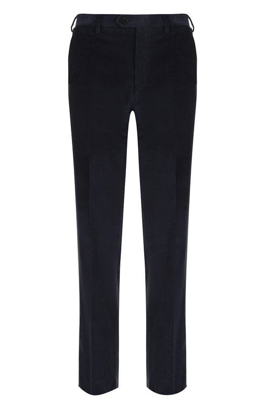 Купить Хлопковые брюки прямого кроя Brioni, RPL21I/P408Y/M0ENA, Италия, Синий, Хлопок: 100%; Подкладка-купра: 100%;