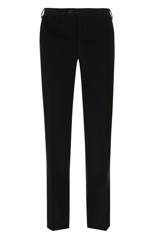 Купить Хлопковые брюки прямого кроя Brioni, RPL21I/P408Y/M0ENA, Италия, Темно-синий, Хлопок: 100%; Подкладка-купра: 100%;