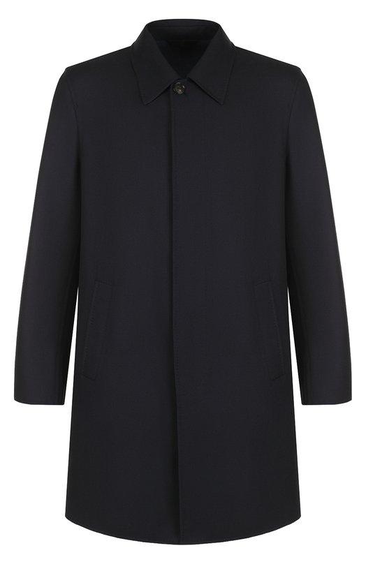 Шерстяное однотонное пальто Brioni