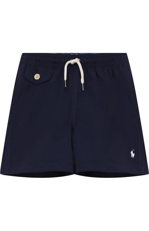 Купить Шорты с логотипом бренда Polo Ralph Lauren, 322682684, Китай, Синий, Полиэстер: 100%; Подкладка-полиэстер: 100%;