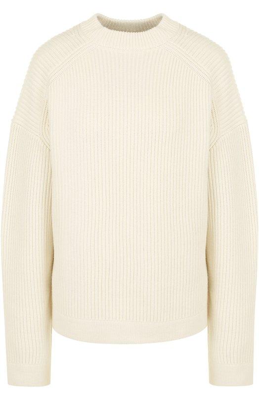 Купить Пуловер фактурной вязки из смеси шерсти и хлопка Joseph, JF000990, Китай, Белый, Шерсть: 70%; Хлопок: 30%;