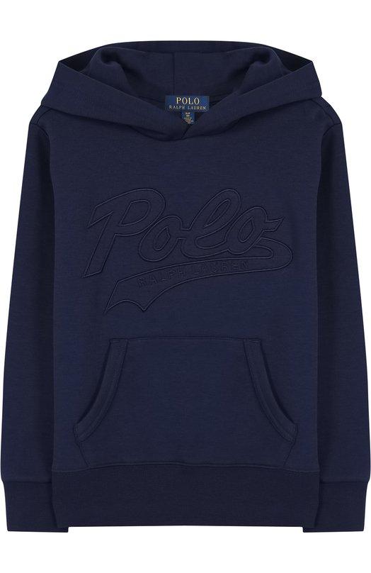 Купить Толстовка с логотипом бренда и капюшоном Polo Ralph Lauren, 323697620, Китай, Синий, Полиэстер: 58%; Хлопок: 42%;