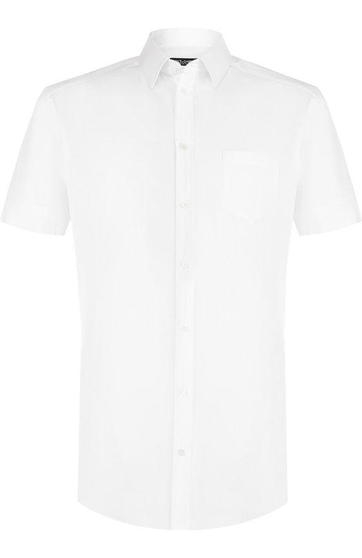 Купить Хлопковая рубашка с короткими рукавами Dolce & Gabbana, G5EK9T/FUEAJ, Италия, Белый, Хлопок: 97%; Эластан: 3%;