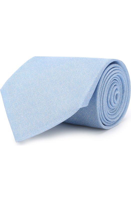 Купить Шелковый галстук Kiton, UCRVKAC09E9309000, Италия, Светло-голубой, Шелк: 100%;