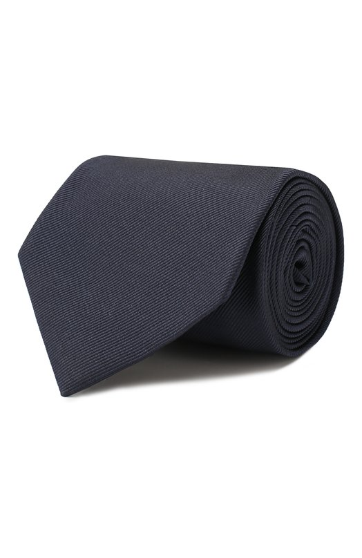 Купить Шелковый галстук Brioni, 062H00/PZ418, Италия, Темно-синий, Шелк: 100%;