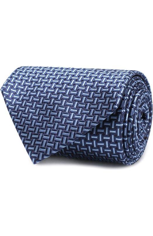 Купить Шелковый галстук с узором Brioni, 062I00/P7447, Италия, Синий, Шелк: 100%;
