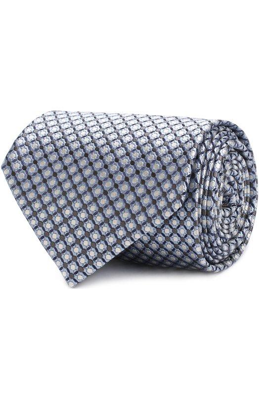 Купить Шелковый галстук с узором Brioni, 062I00/P7450, Италия, Голубой, Шелк: 100%;