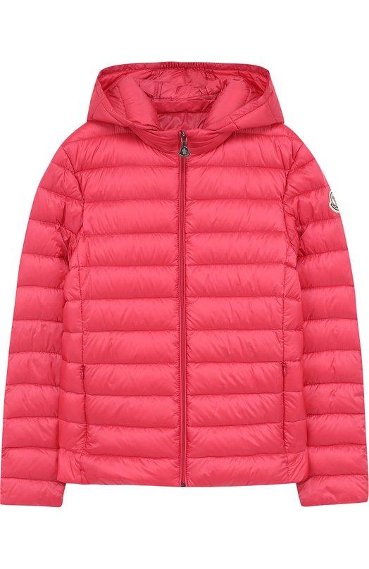 Купить Пуховая куртка с капюшоном Moncler Enfant, D1-954-46810-99-53048/12-14A, Армения, Фуксия, Пух: 90%; Полиамид: 100%; Подкладка-полиамид: 100%; Перо: 10%;