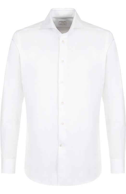 Купить Хлопковая сорочка с воротником акула Bagutta, B363L/07774, Италия, Белый, Хлопок: 100%;