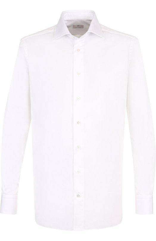 Купить Хлопковая сорочка с воротником кент Canali, 705/GA60130/CS, Италия, Белый, Хлопок: 100%;