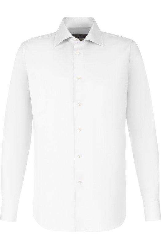 Купить Хлопковая сорочка с воротником кент Canali, N705/GD00809/CS/PG, Италия, Белый, Хлопок: 100%;