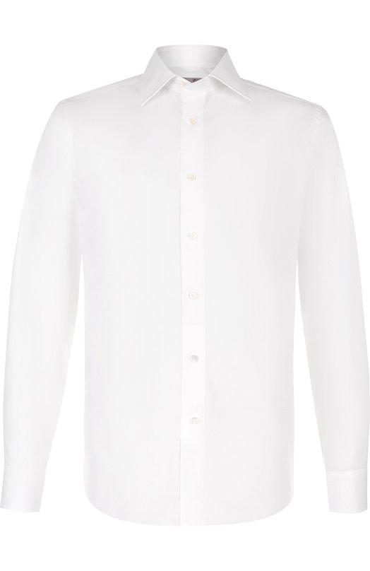 Купить Хлопковая сорочка с воротником кент Canali, NX05/GD00808/CS, Италия, Белый, Хлопок: 100%;