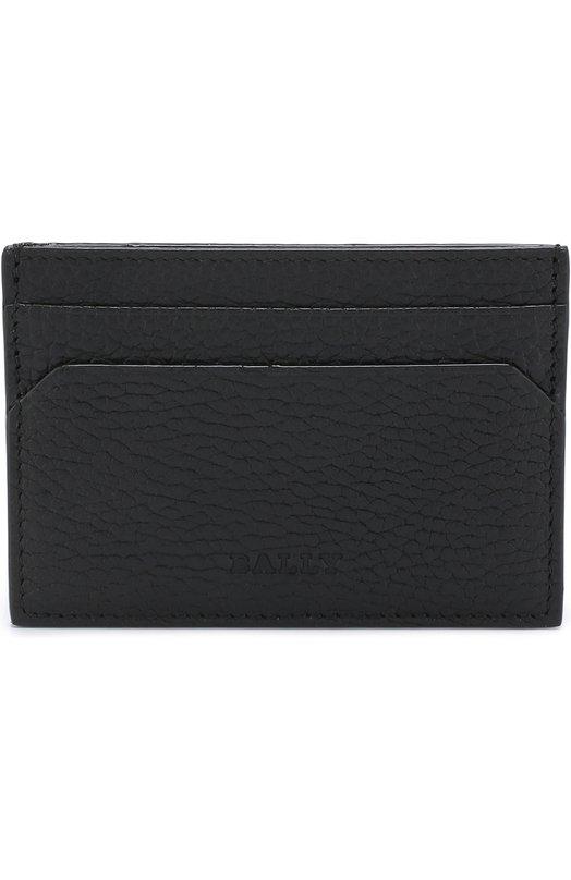 Купить Кожаный футляр для кредитных карт Bally, SHAR/CALF, Италия, Черный, Кожа натуральная: 100%;