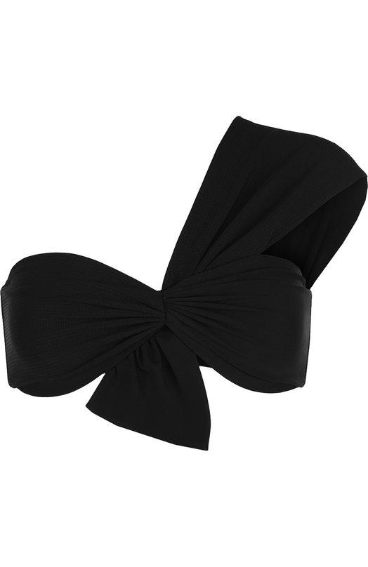 Купить Однотонный бра асимметричного кроя с драпировкой Marysia, ST075, Китай, Черный, Полиамид: 75%; Эластан: 25%;