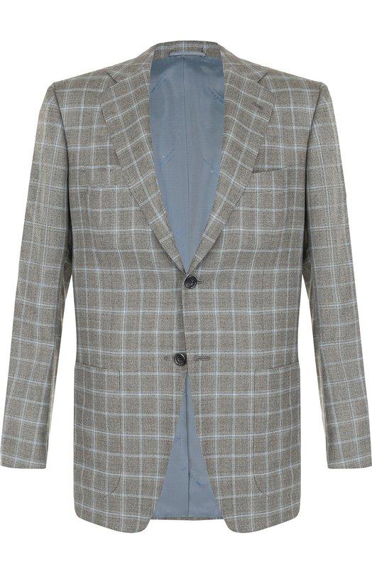 Однобортный кашемировый пиджак Kiton