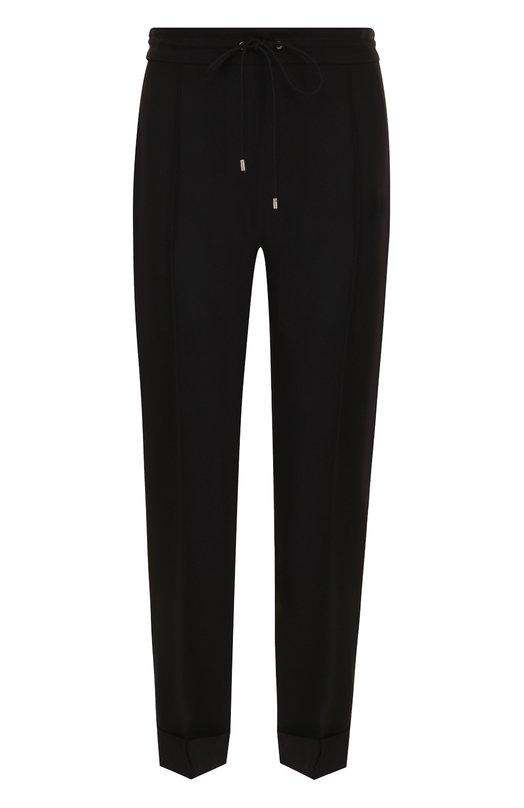 Купить Однотонные брюки прямого кроя со стрелками Kenzo, 2PA1675AM, Тунис, Черный, Полиэстер: 100%;
