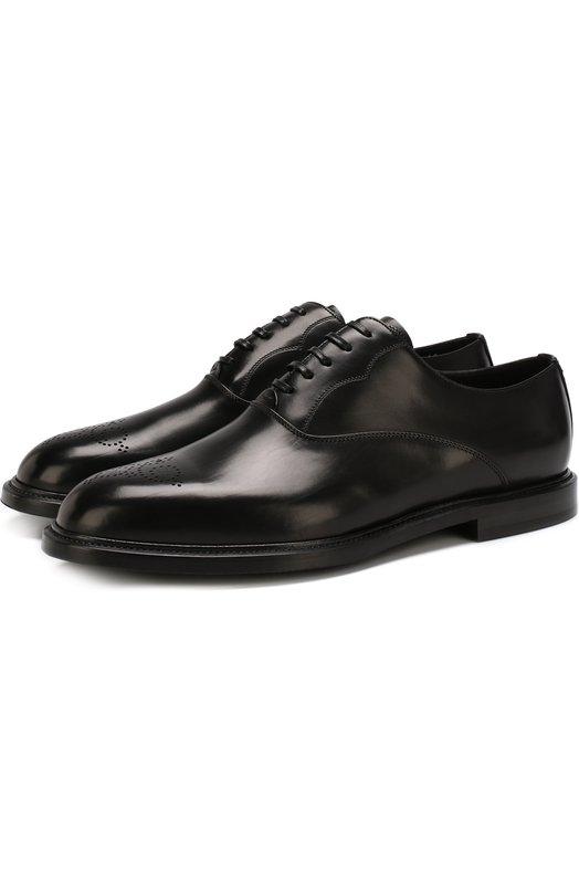 Купить Классические кожаные оксфорды Marsala Dolce & Gabbana, 0111/A20085/AC329, Италия, Черный, Кожа натуральная: 100%; Стелька-кожа: 100%; Подошва-резина: 100%;