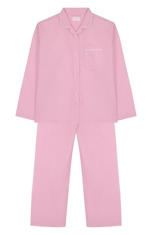 Купить Хлопковая пижама с принтом Derek Rose, 7006-AMAL001/13-16, Чехия, Розовый, Хлопок: 100%;