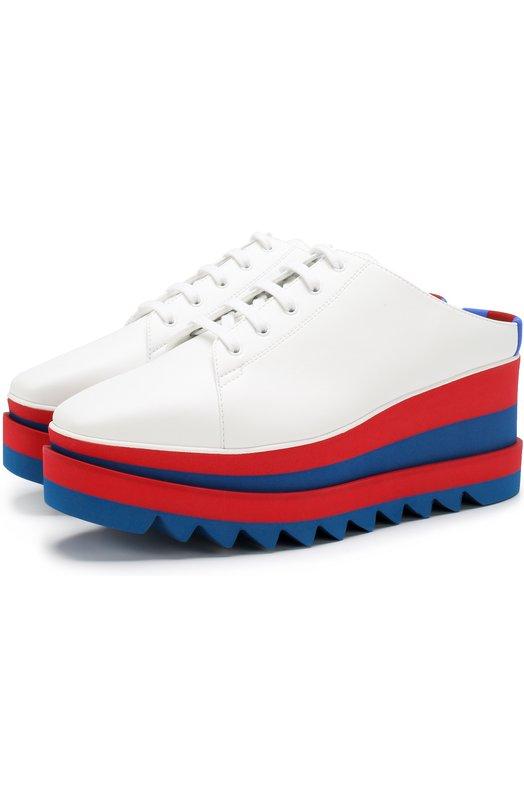 Купить Ботинки Elyse из эко-кожи без задника Stella McCartney, 501741/W02Q9, Италия, Белый, Подошва-резина: 100%; Резина: 100%; Стелька-резина: 100%;