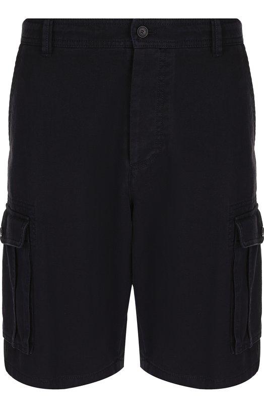 Купить Хлопковые шорты с накладными карманами Valentino, PV3RD562/4MG, Италия, Темно-синий, Хлопок: 100%;