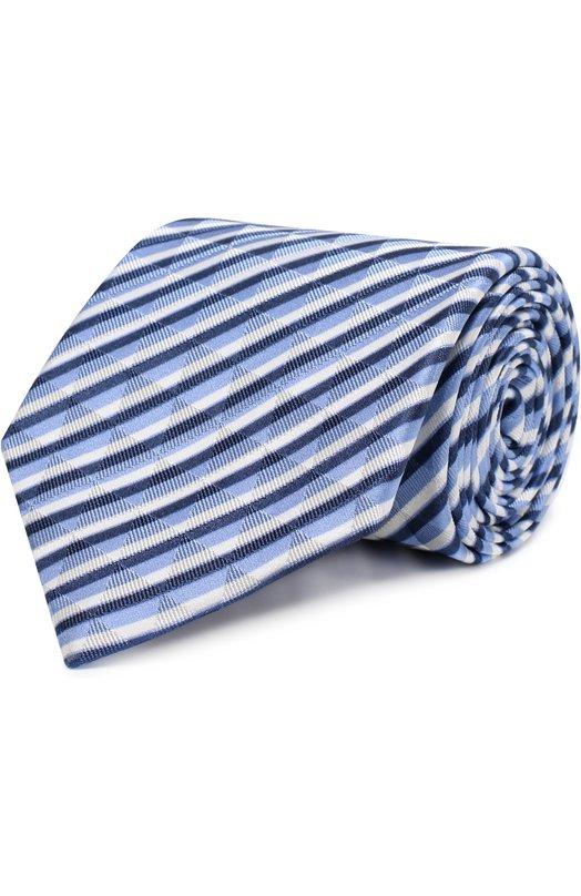 Купить Шелковый галстук в полоску Giorgio Armani, 360054/8P802, Италия, Синий, Шелк: 100%;