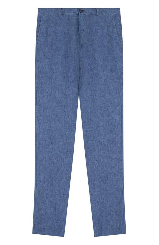 Купить N110D/8438/XS-L, Льняные брюки Dal Lago, Италия, Голубой, Лен: 100%;, Мужской, Брюки