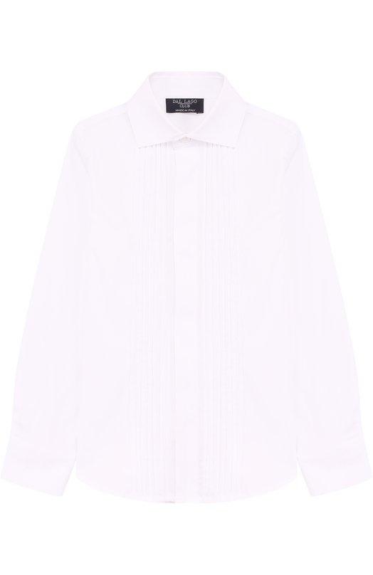 Купить Хлопковая рубашка прямого кроя Dal Lago, N427/7537/3-6, Италия, Белый, Хлопок: 78%; Эластан: 4%; Полиамид: 18%;