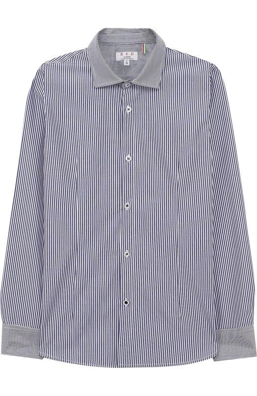 Купить Хлопковая рубашка в полоску Aletta, N88134/9A-16A, Италия, Синий, Хлопок: 100%;