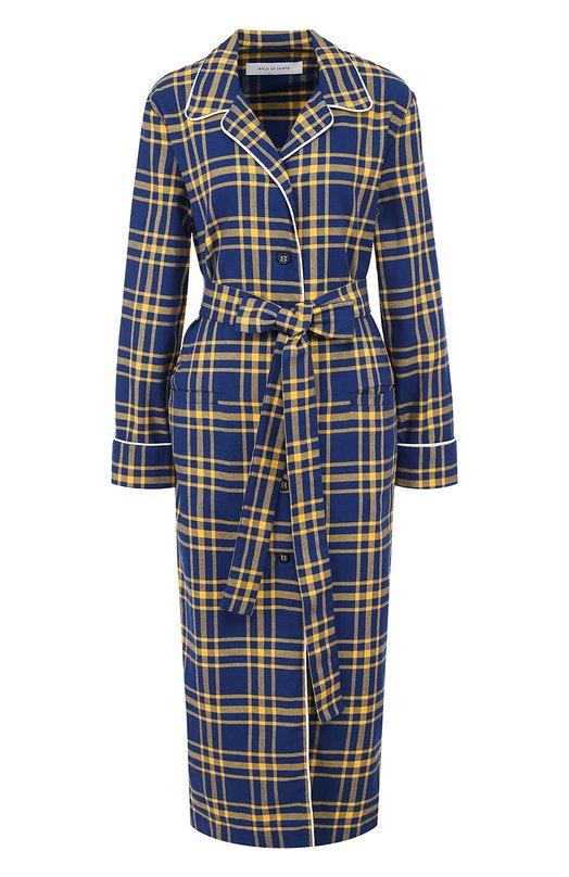 Купить Платье-рубашка в клетку с поясом Walk of Shame, D005-FW 17-18, Россия, Синий, Хлопок: 100%;