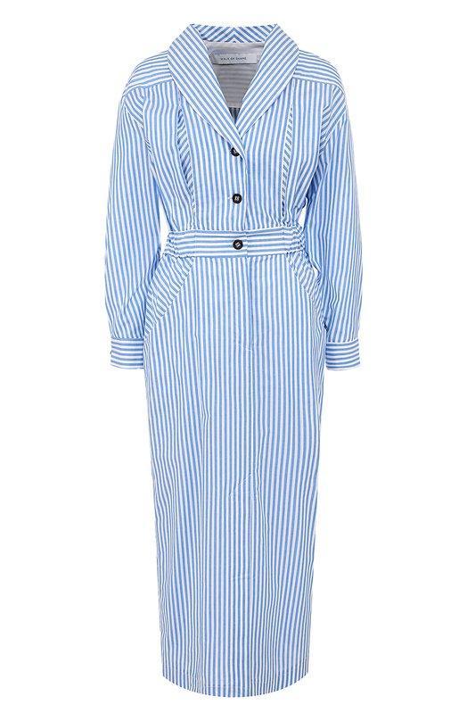 Купить Приталенное платье-миди в полоску Walk of Shame, D001/2-FW 17-18, Россия, Синий, Хлопок: 100%;