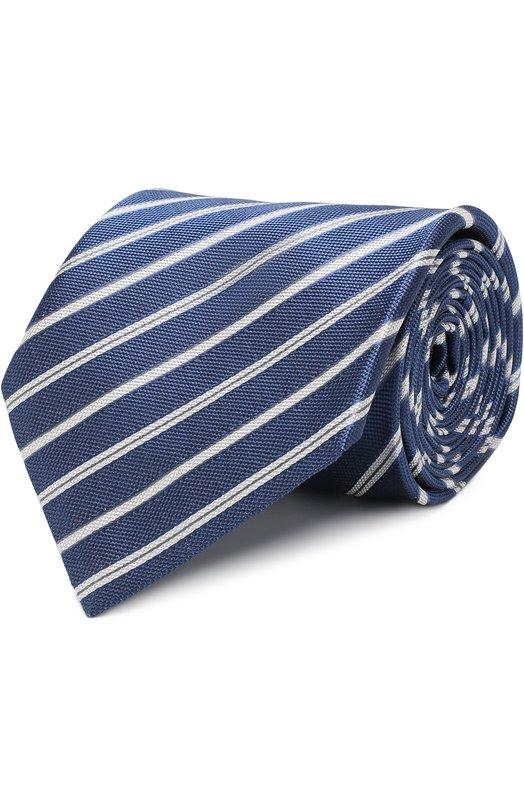 Купить Шелковый галстук в полоску Brioni, 063I00/P7441, Италия, Синий, Шелк: 100%;