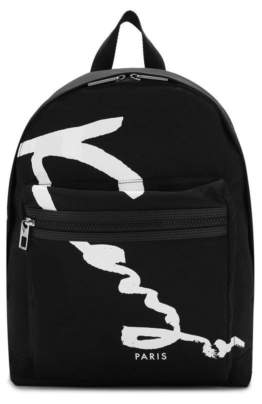 Купить Текстильный рюкзак с внешним карманом на молнии Kenzo, 5SF213F22, Вьетнам, Черный, Нейлон: 100%;