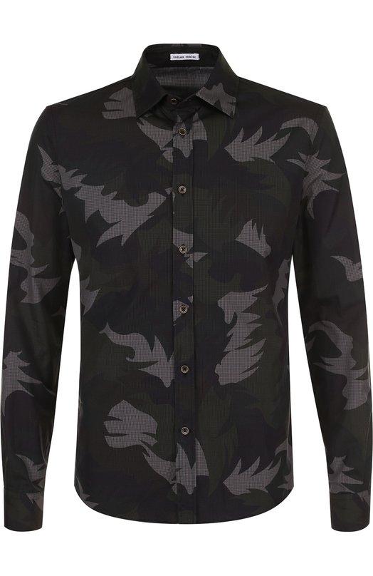 Купить Хлопковая рубашка с принтом Tomas Maier, 474948/M09C0, Италия, Разноцветный, Хлопок: 100%;