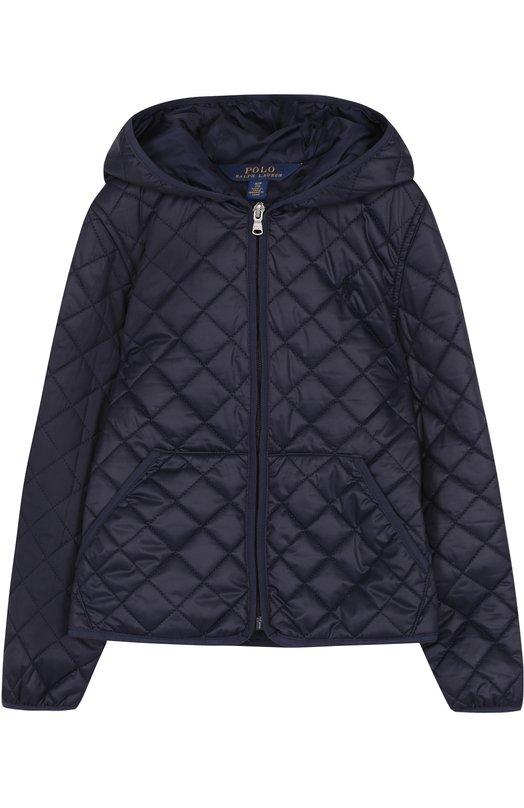 Купить Стеганая куртка с капюшоном Polo Ralph Lauren, 313680618, Китай, Синий, Полиэстер: 100%; Подкладка-полиэстер: 100%;