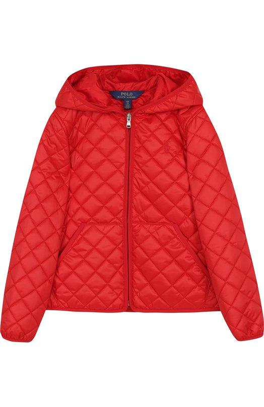 Купить Стеганая куртка с капюшоном Polo Ralph Lauren, 313680618, Китай, Красный, Полиэстер: 100%; Подкладка-полиэстер: 100%;