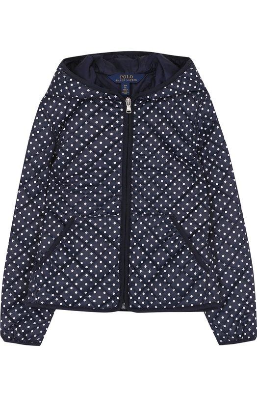 Купить Стеганая куртка с капюшоном Polo Ralph Lauren, 313685445, Китай, Синий, Полиэстер: 100%; Подкладка-полиэстер: 100%;