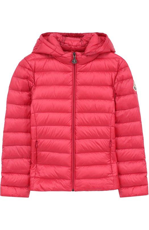 Купить Пуховая куртка с капюшоном Moncler Enfant, D1-954-46810-99-53048/4-6A, Армения, Фуксия, Пух: 90%; Подкладка-полиамид: 100%; Полиамид: 100%; Перо: 10%;