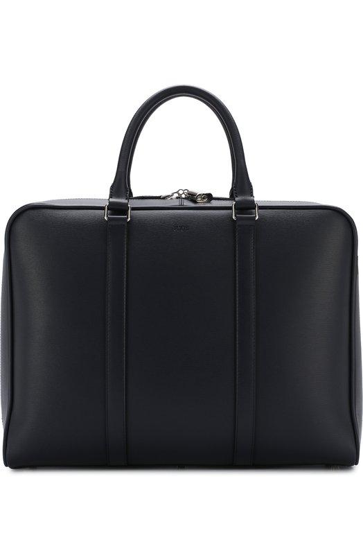 Купить Кожаная сумка для ноутбука с плечевым ремнем Tod's, XBMMDBL0200VIBU820, Италия, Синий, Кожа натуральная: 100%;