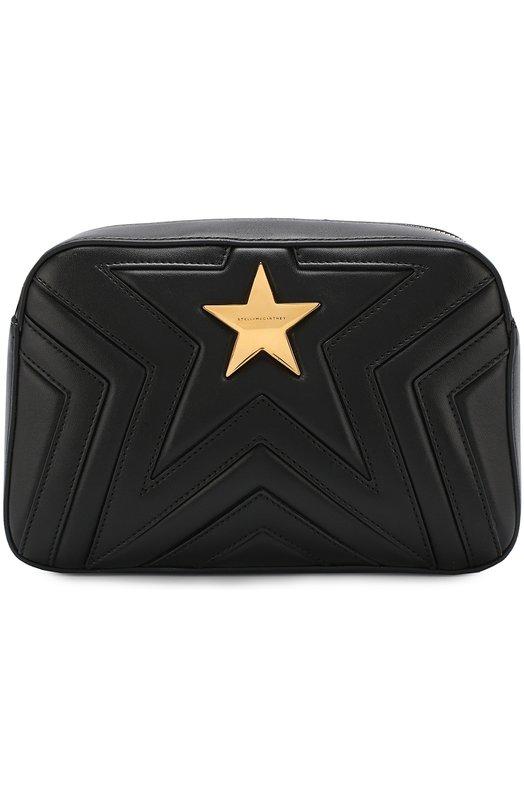 Купить Сумка Star из эко-кожи Stella McCartney, 500993/W8214, Италия, Черный, Полиуретан: 53%; Полиэстер: 47%; Кожа искусственная: 100%;