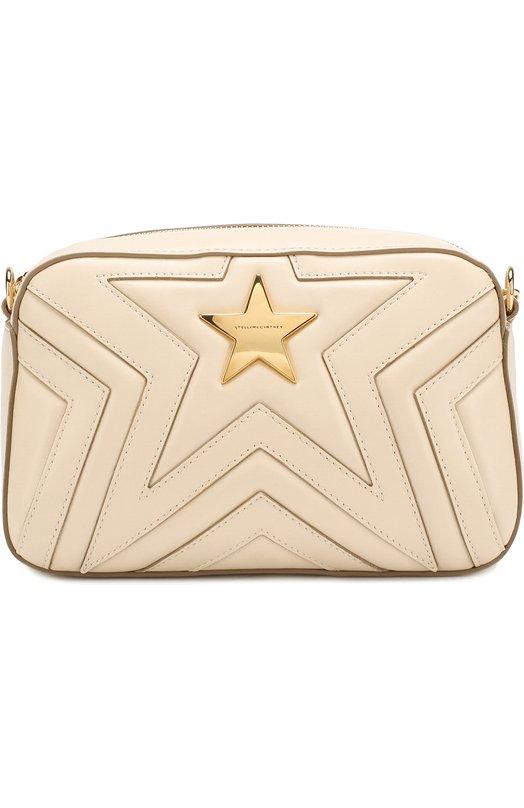 Купить Сумка Star из эко-кожи Stella McCartney, 500993/W8214, Италия, Бежевый, Полиуретан: 53%; Полиэстер: 47%; Кожа искусственная: 100%;