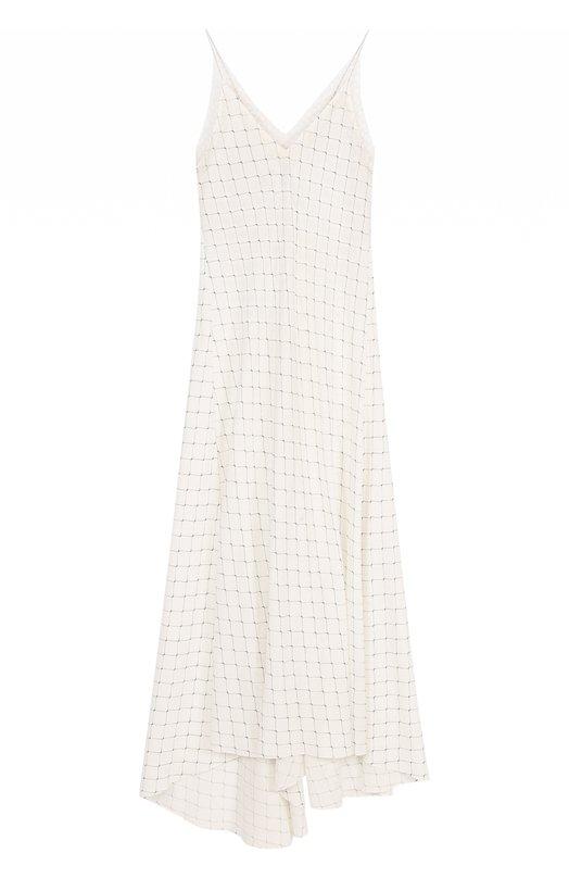 Купить Шелковое платье-комбинация с кружевной отделкой Walk of Shame, DE002/1-PS18, Россия, Бежевый, Шелк: 100%;
