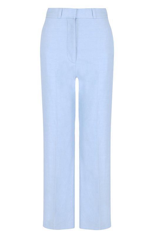 Купить Укороченные однотонные брюки со стрелками Stella McCartney, 493888/SIA03, Венгрия, Голубой, Полиамид: 40%; Хлопок: 36%; Лен: 24%;