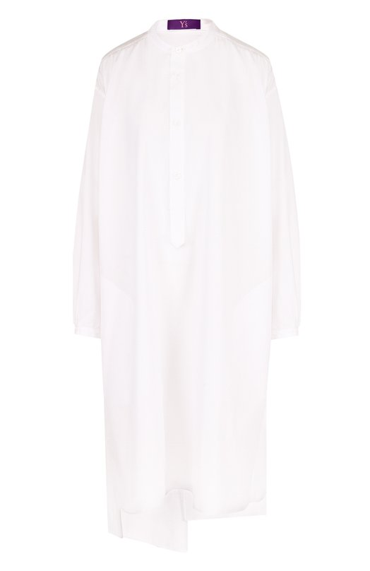 Купить Однотонная хлопковая блуза свободного кроя Yohji Yamamoto, YE-B49-031, Япония, Белый, Хлопок: 100%;