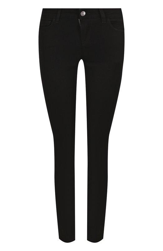 Купить Укороченные джинсы-скинни с контрастной отделкой Dolce & Gabbana, FTA13Z/G883D, Италия, Черный, Хлопок: 98%; Эластан: 2%;