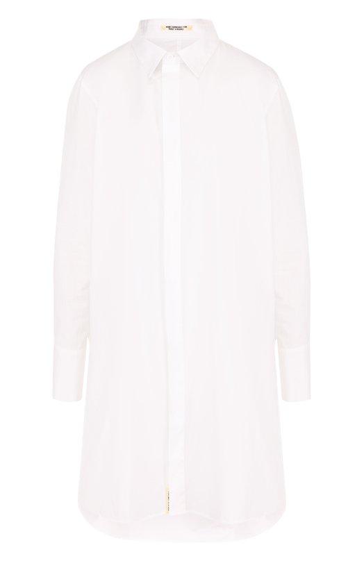 Купить Однотонная хлопковая блуза свободного кроя Yohji Yamamoto, FE-B52-001, Япония, Белый, Хлопок: 100%;